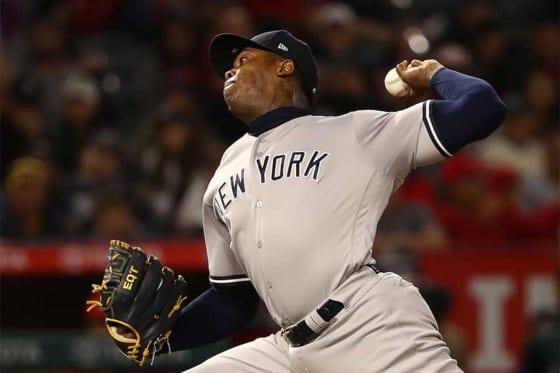 ヤンキースのアロルディス・チャップマン【写真:Getty Images】