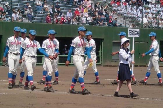 春季高校野球埼玉大会では準優勝に終わった花咲徳栄の選手たち【写真:河野正】