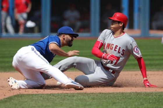 2本の二塁打を放ち勝利に貢献したエンゼルス・大谷翔平【写真:Getty Images】