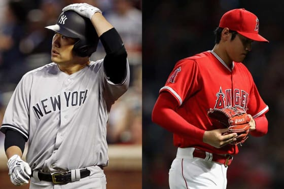 ともにDL入りが発表されたヤンキース・田中(左)、エンゼルス・大谷【写真:AP,Getty Images】
