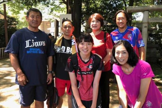 小平市で行われた聖花リレーには田邊徳雄氏らスポーツ界の方々が参加【写真提供:埼玉西武ライオンズ】