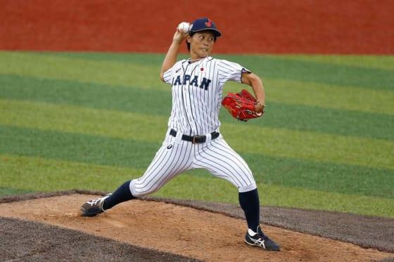 7回2死までノーヒット投球で勝利に貢献した侍ジャパン女子代表・里綾実【写真:Getty Images】