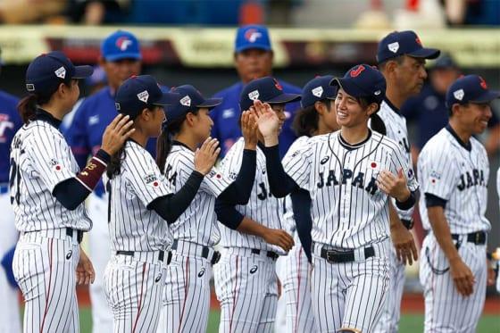 チャイニーズ・タイペイ戦を2-1で勝利した侍ジャパン女子代表【写真:Getty Images】