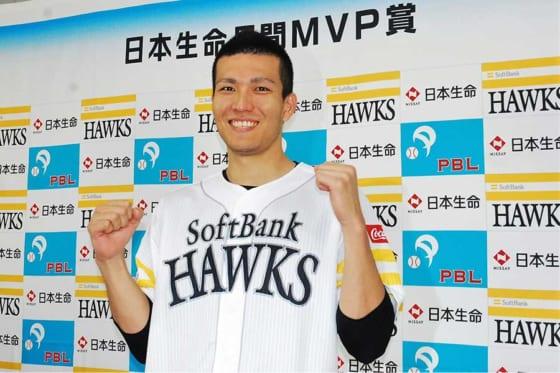 月間MVPを受賞したソフトバンク・千賀滉大【写真:藤浦一都】
