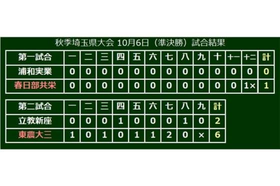 秋季埼玉大会準決勝の結果