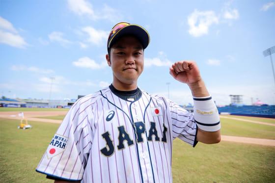 ドミニカ戦で打点を記録した侍U-23代表・西巻賢二【写真:Getty Images】