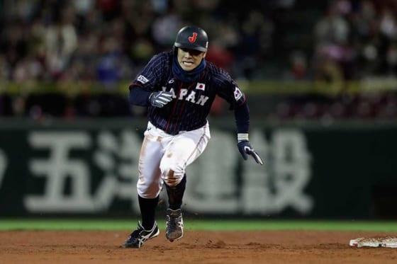 侍ジャパン代表としてアメリカ選抜との試合にも出場した広島・田中広輔【写真:Getty Images】