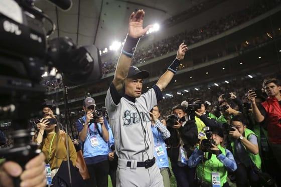 現役引退を表明したマリナーズ・イチロー【写真:AP】