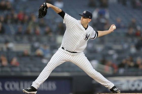 ヤンキースのジェームス・パクストン【写真:Getty Images】