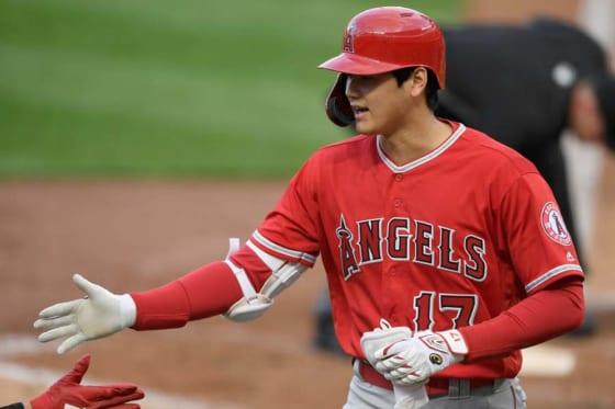 第2打席で今季1号本塁打を放ったエンゼルス・大谷翔平【写真:Getty Images】