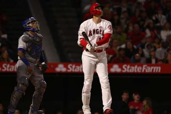 第3打席で今季2号本塁打を放ったエンゼルス・大谷翔平【写真:Getty Images】