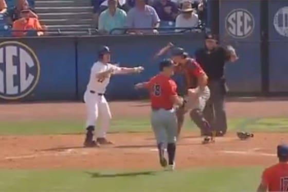 米大学野球で悲劇的すぎる幕切れ(画像はスクリーンショットです)