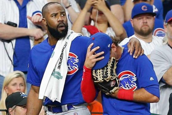 """3日前にはカブスのアルモラJr.(右)の打球が少女に直撃する""""悲劇""""が起きていた【写真:Getty Images】"""