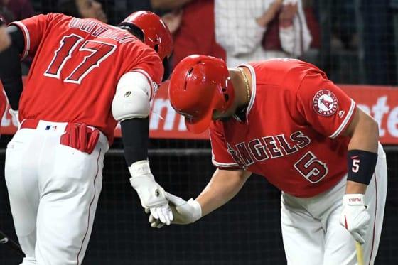 マリナーズ・菊池から3者連続となる本塁打を放ったエンゼルス・大谷【写真:Getty Images】