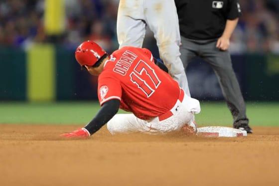 7回に今季初盗塁を決めたエンゼルス・大谷翔平【写真:Getty Images】