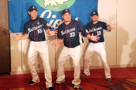 ファン投票でオールスターに選出された西武・秋山、山川、森(左から)【写真:編集部】