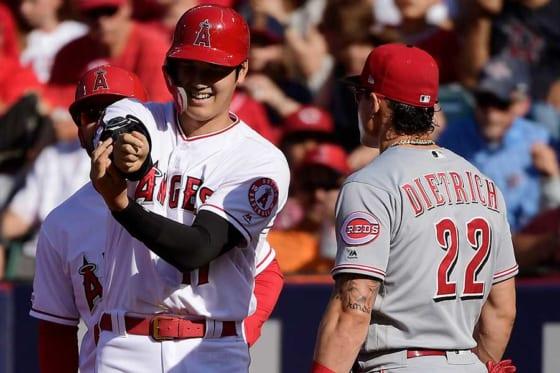 3安打1盗塁と勝利に貢献したエンゼルス・大谷翔平【写真:AP】