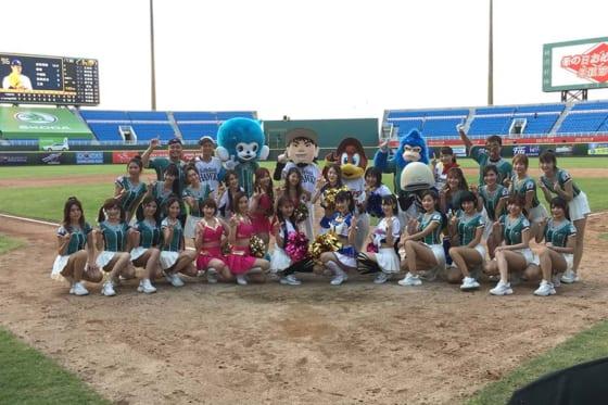5月11日・12日に「YOKOSO 桃猿」が台湾の桃園国際棒球場で行われた【写真:(C)PLM】