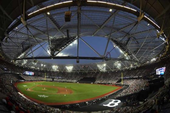 レッドソックス-ヤンキース戦が行われたロンドンスタジアム【写真:Getty Images】