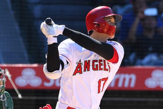 本拠地アスレチックス戦で2本塁打を放ったエンゼルス・大谷翔平【写真:Getty Images】