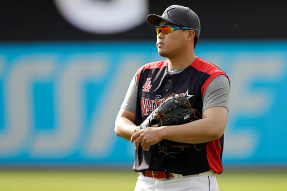 MLBオールスターで先発予定のドジャース・柳賢振【写真:AP】
