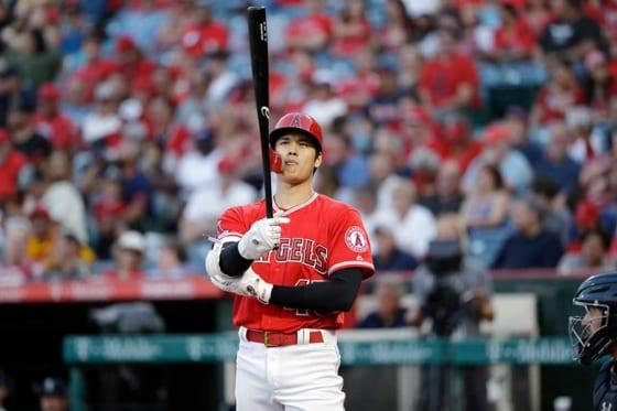 「45」を身に着け、試合に臨んだエンゼルス・大谷翔平【写真:AP】