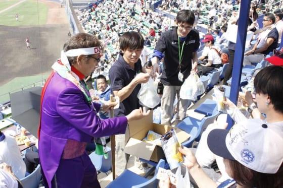 5月のイベントでファンにおもてなしをする「DJチャス。」【写真提供:北海道日本ハムファイターズ】