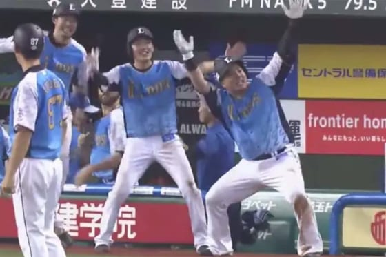 30号本塁打を放った西武・山川穂高【画像:(C)PLM】