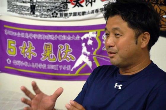 1993年、上宮(大阪)でセンバツ優勝時の主将だった黒川洋行さん【写真:編集部】