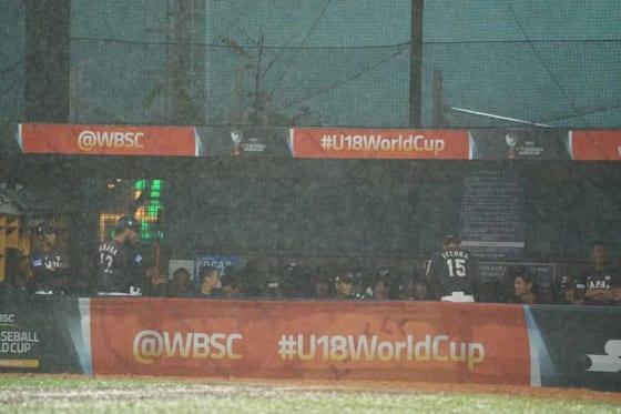 5回降雨コールドとなり日本は台湾に1-3で敗れた【写真:荒川祐史】