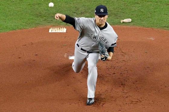 6回無失点と好投したヤンキース・田中将大【写真:Getty Images】
