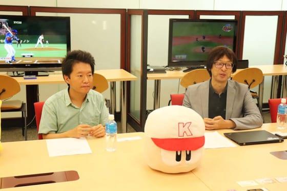 KONAMIプロデューサーの山口剛さん(左)と森博信さん【写真:編集部】