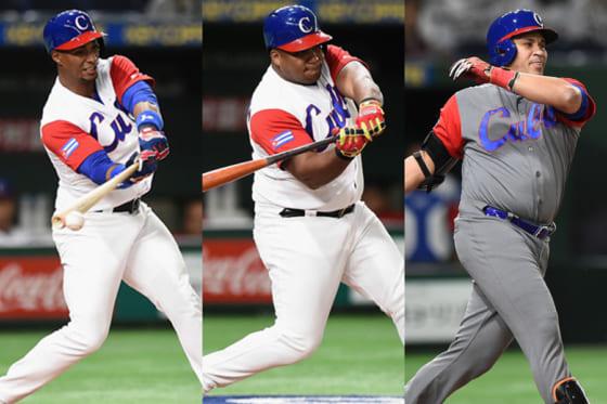 キューバ代表のグラシアル、デスパイネ、セペダ【写真:Getty Images】