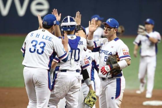 オープニングラウンドを3連勝で飾った韓国代表【写真:Getty Images】