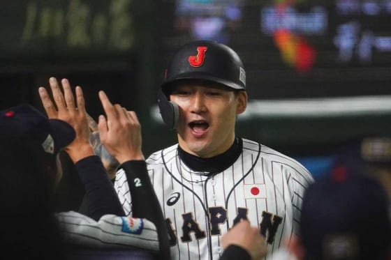 5回を終え侍ジャパンが韓国相手に9-6でリードしている【写真:荒川祐史】
