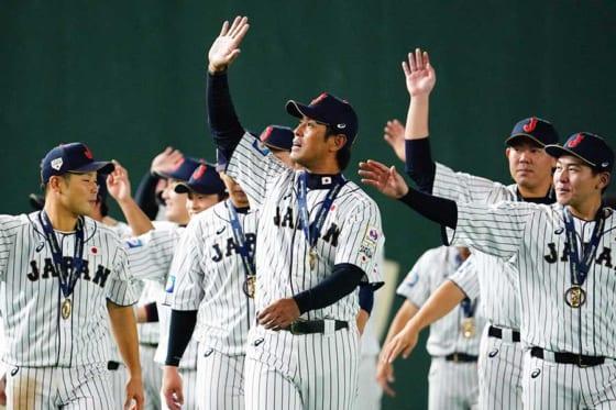 プレミア12で優勝した侍ジャパン【写真:荒川祐史】