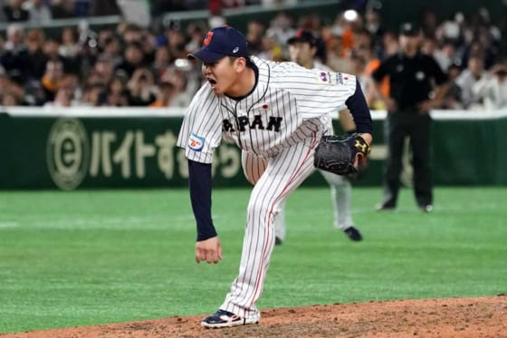 侍ジャパン日本代表のDeNA・山崎康晃【写真:Getty Images】