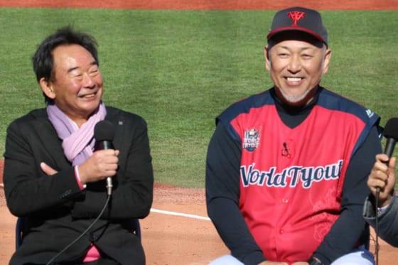 トークショーに登場した東尾修氏(左)と清原和博氏【写真:編集部】