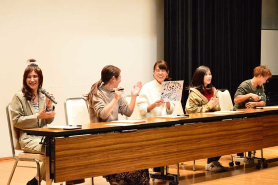 「Talk show with 6 players」で行われたトークショーは盛り上がりを見せた【写真:編集部】