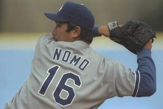 1995年にドジャースに移籍し新人王を獲得した野茂英雄【写真:Getty Images】