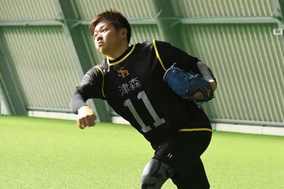 ソフトバンクのドラ3・津森宥紀【写真:藤浦一都】