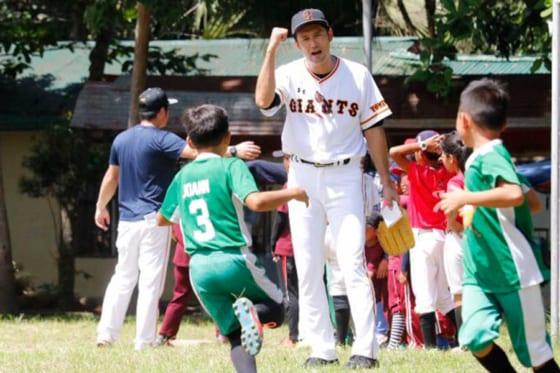 巨人がフィリピンで野球教室を開催した【写真提供:読売巨人軍】