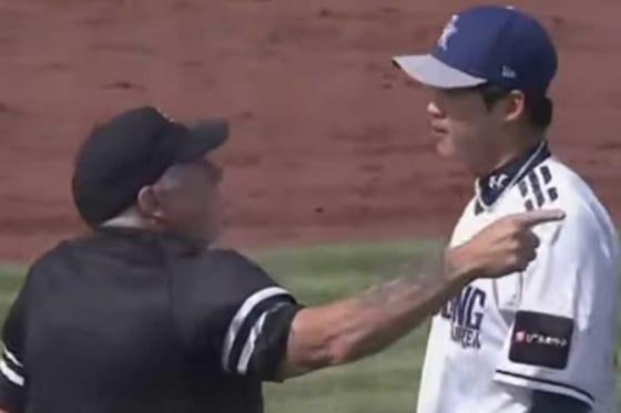豪州WLで韓国人投手が死球をきっかけに騒動を巻き起こした(画像はスクリーンショット)