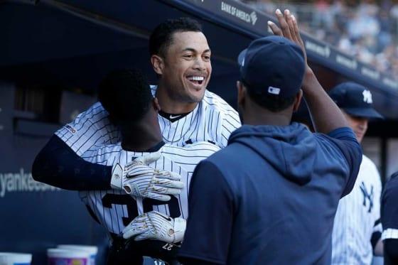 ヤンキースのジャンカルロ・スタントン【写真:Getty Images】