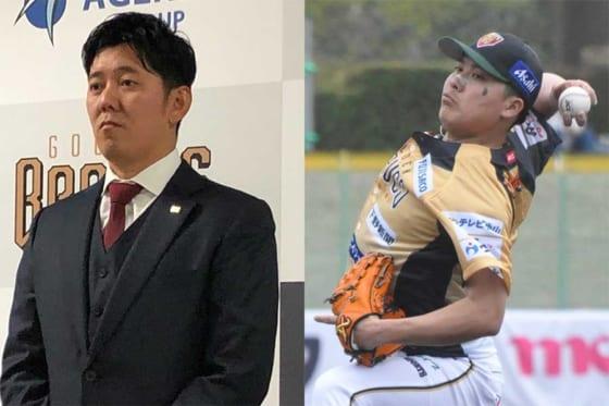今季からBC栃木でチームメートとなる成瀬善久(左)と若松俊太【写真:編集部、小西亮】