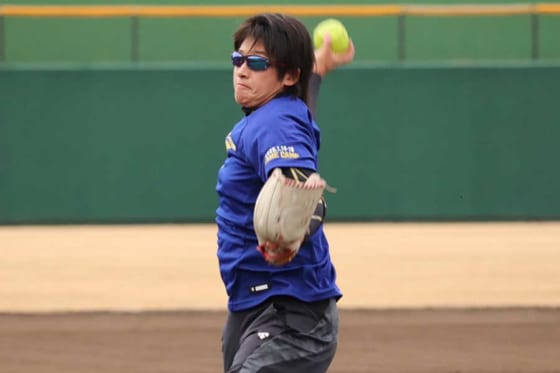 自主トレを行ったソフトボール女子日本代表の上野由岐子【写真:福谷佑介】