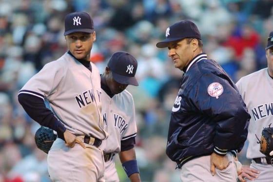 ヤンキースで活躍したデレク・ジーター氏(左)とジョー・トーリ氏【写真:Getty Images】