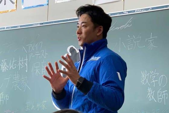 復興イベントに参加した日本ハム・斎藤佑樹【写真:編集部】
