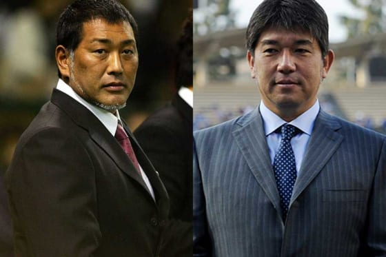 清原和博氏(左)と野茂英雄氏【写真:Getty Images】