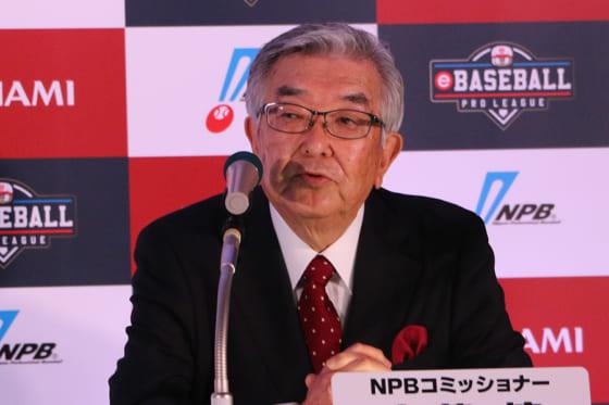 NPBの斉藤惇コミッショナー【写真:編集部】